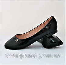 Женские Балетки Чёрные Мокасины Туфли (размеры: 36), фото 2