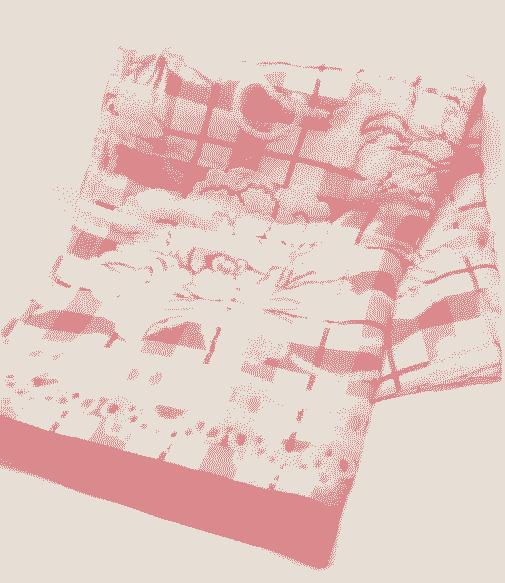 Простынь лен з махрою 180х210 см Розовая