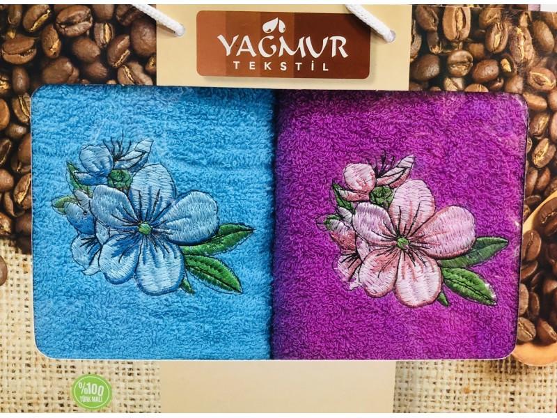 Набор кухонных полотенец Цветочки 30х70 (9987)