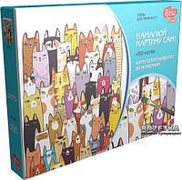Набор для творчества Rosa 50 котов, акриловая живопись по номерам (4823064947960)