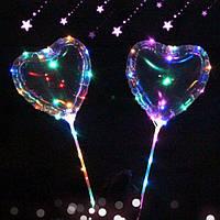 Воздушные шарики с Led подсветкой Сердечко Good Idea (hub_vQFm56515)