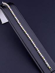 Браслет XUPING Фианит 18 см родиевое покрытие
