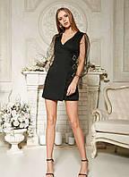 Модное платье мини с фатином