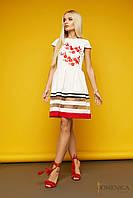 Стильное летнее платье с коротким рукавом