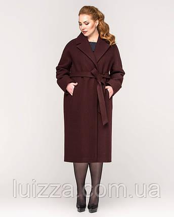 Пальто со спущенными рукавами 44-56р вино, фото 2