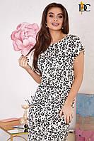 Летнее платье с необычным леопардовым принтом
