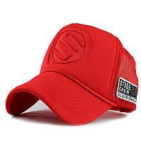 Кепка тракер Логотип с сеточкой Красная 2, Унисек