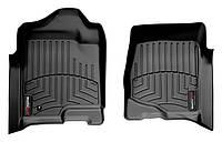 Коврики в салон Cadillac Escalade III (GMT 900) 2007 - 2014, черные, Tri-Extruded (WeatherTech, 440661) - передний ряд