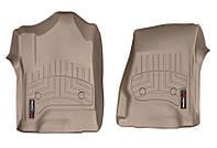 Коврики в салон Cadillac Escalade IV (GMT K2XL) 2015 -, бежевые, Tri-Extruded (WeatherTech, 456071) - передний ряд