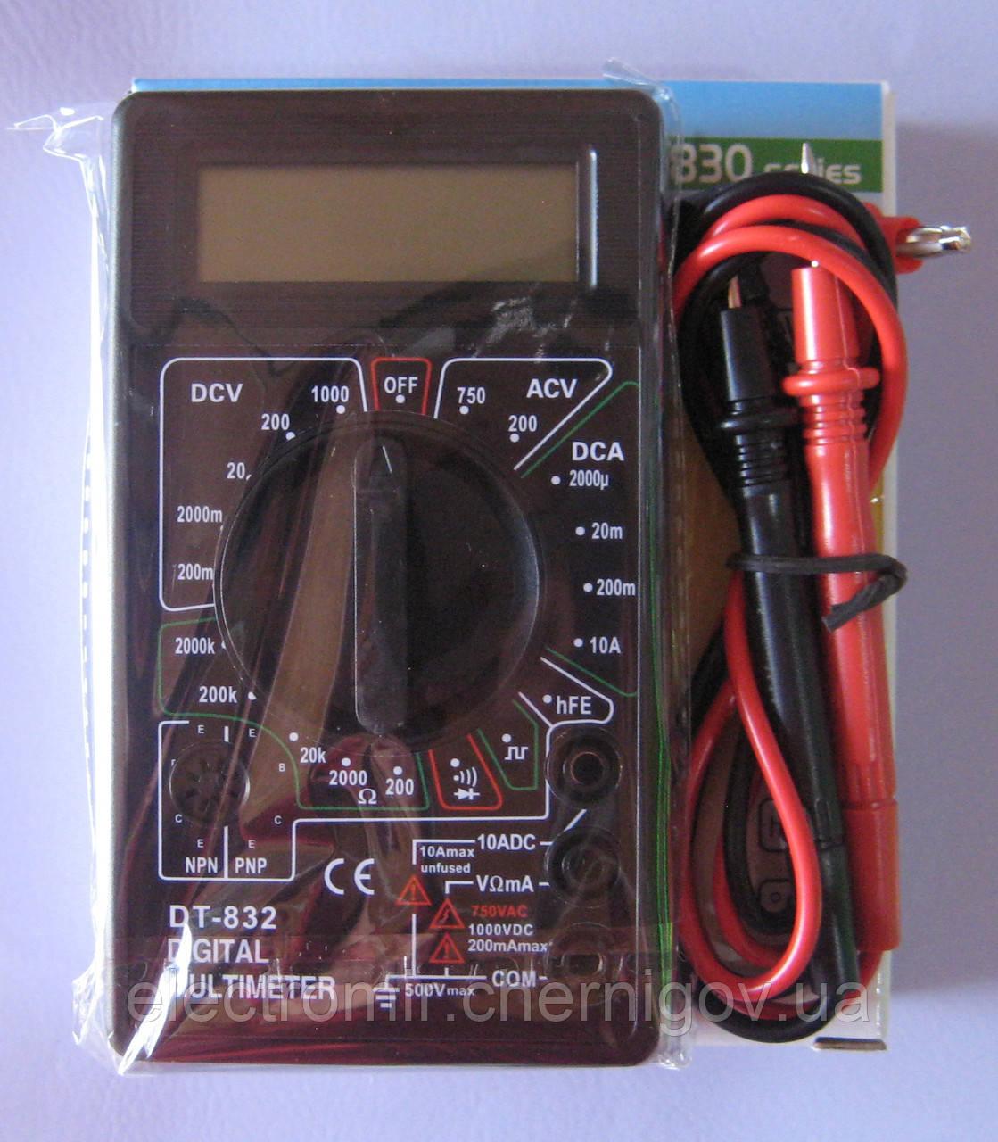 Мультиметр DT-832 со звуком