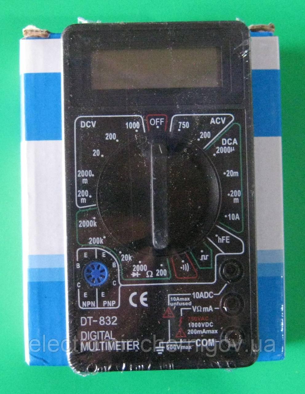 Мультиметр цифровой DT-832 (функция прозвонки)