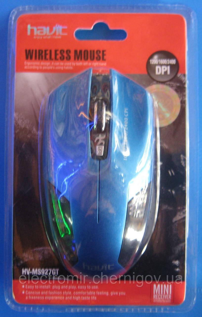Мышь компьютерная Havit HV-MS927GT USB (беспроводная, синяя)