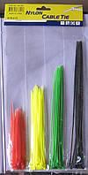 Набор цветных пластиковых стяжек