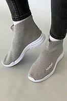 Кроссовки подростковые серые AAA 90402-2