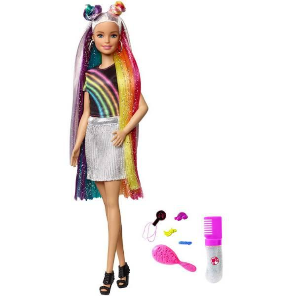 Barbie Барби Радужное сияние волос FXN96 Rainbow Sparkle Hair Doll