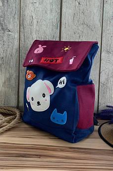 Рюкзак детский синий 33 x 28 x 7 AAA 116570S