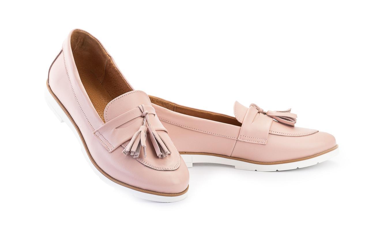 Женские туфли кожаные весна/осень розовые-белые Mkrafvt 0016