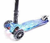 Самокат детский Maxi складной руль колеса светяться. Space., фото 4