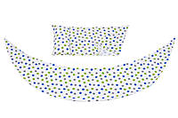 Набор аксессуаров для подушки DreamWizard (наволочка, мини-подушка), белый в горошек, Nuvita (NV7101DOTS)