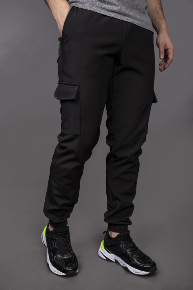 """Чоловічі штани SoftShell """"Intruder"""" чорні + подарунок ключниця"""