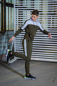 Мужской спортивный костюм хаки-белый Spirited Intruder + подарок ключница новинка