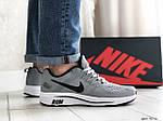 Чоловічі кросівки Nike Run shield (світло-сірі з білим) 9072, фото 2