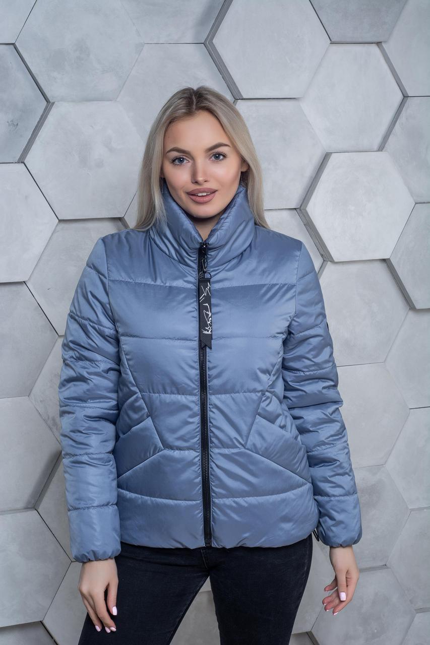 Демисезонная куртка К 00031 с 03 голубой