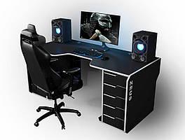Геймерский игровой компьютерный прямой эргономичный стол ZEUS™ / ЗЕУС™ Viking I / Викинг 1 M 180x85(80)