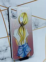 Силиконовый чехол с принтом для Samsung Galaxy M30s Девушка со спины