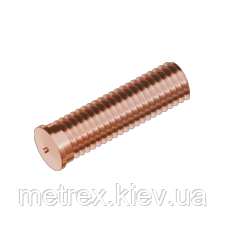 Винт М6х10 омедненный приварной ISO13918 Rivettop