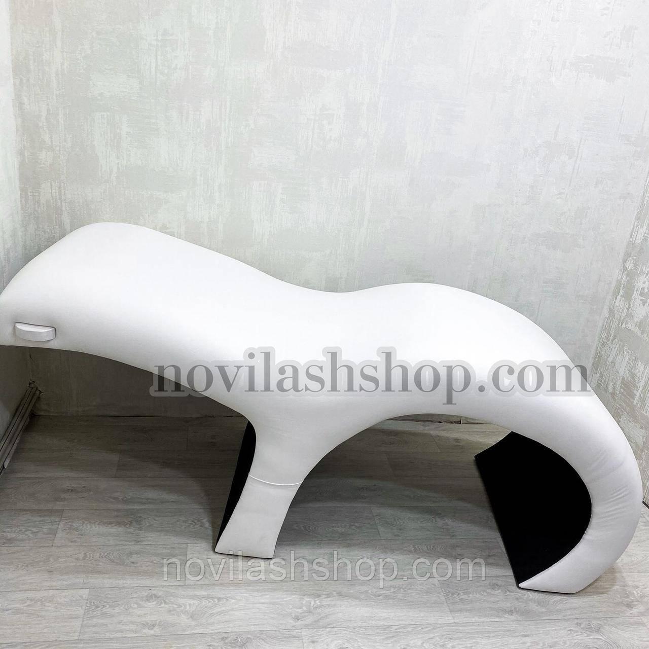 Анатомічна кушетка Simply light без полички для лампи, еко шкірі для нарощування вій від Beauty Comfort