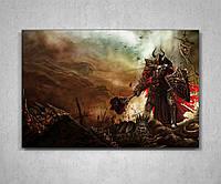 Картина на холсте подарок для фаната с героем игры Диабло Diablo 60х40, фото 1