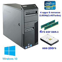 Системный блок, компьютер, Intel Core i7 860, 8 ядер до 3,46 Ghz, 4 Гб ОЗУ DDR-3, HDD 250 Гб