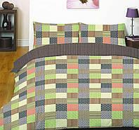 Постельное белье полуторный разноцветные квадратики