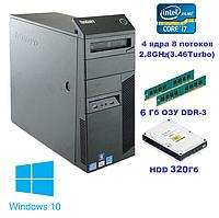Системный блок, компьютер, Intel Core i7 860, 8 ядер до 3,46 Ghz, 6 Гб ОЗУ DDR-3, HDD 320 Гб