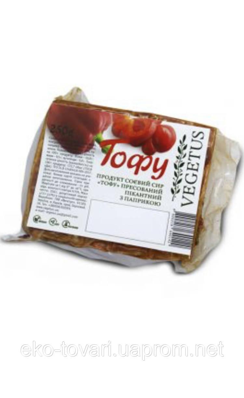 Тофу пікантний з паприкою, Vegetus, 250г Тофу пікантний з паприкою, Vegetus, 250г