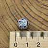Серебряный шарм размер 10х8 мм вставка разноцветные фианиты вес 1.9 г, фото 3