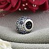Серебряный шарм размер 10х8 мм вставка разноцветные фианиты вес 1.9 г, фото 2