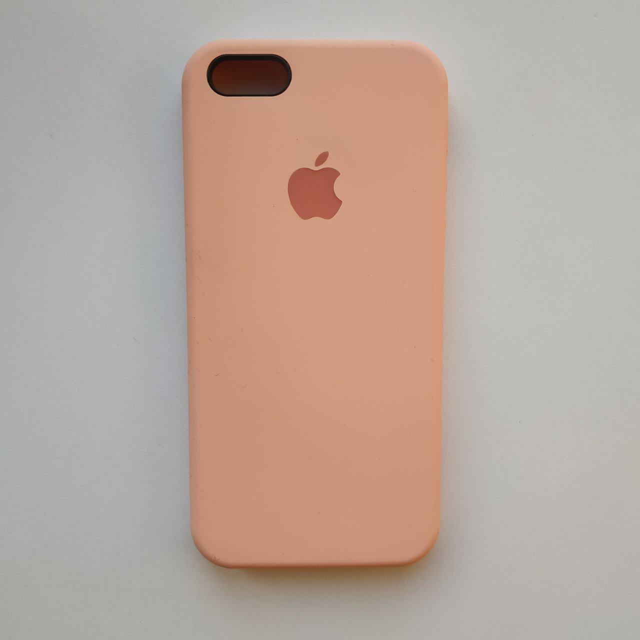 Чехол Silicone Case для Apple iPhone 5, 5S, SE Pink
