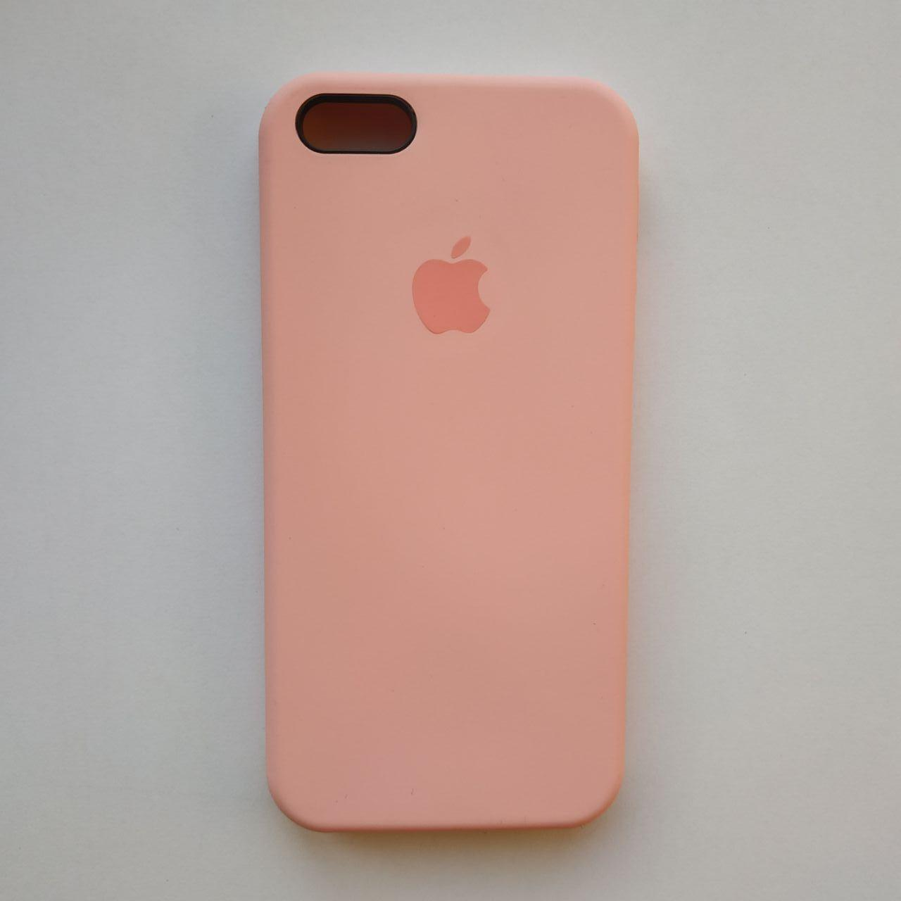 Чехол Silicone Case для Apple iPhone 5, 5S, SE Rose Pink