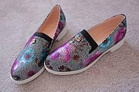 Женские туфли классика Италия кожа блеск 37 люкс качество