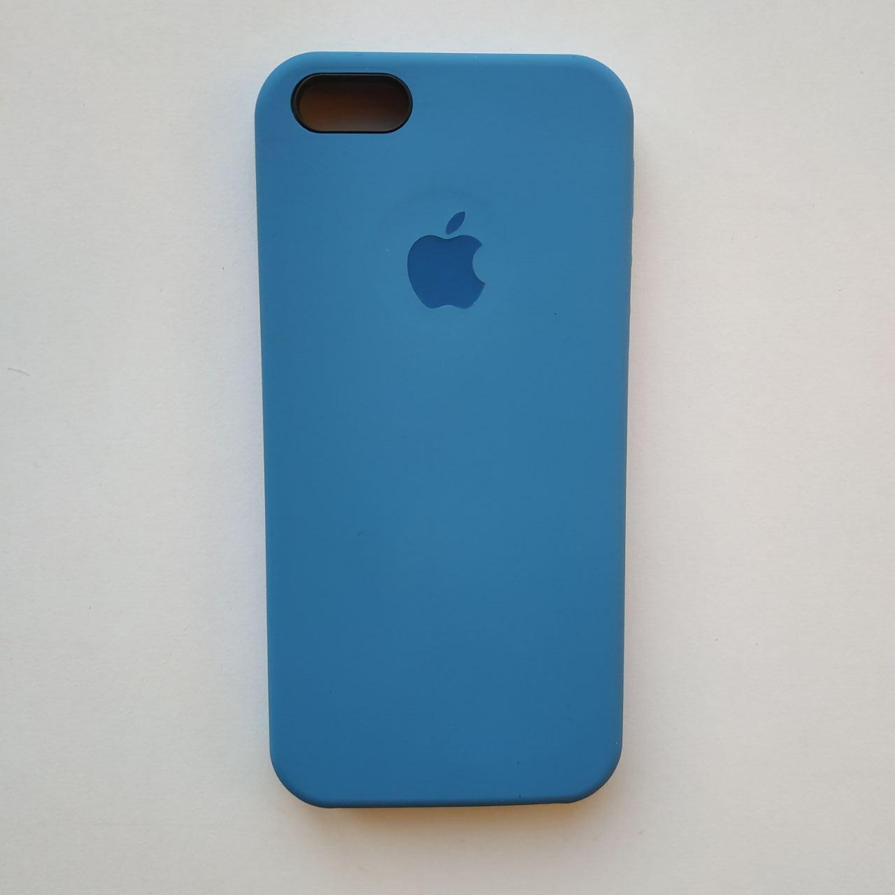 Чехол Silicone Case для Apple iPhone 5, 5S, SE Vivid Blue