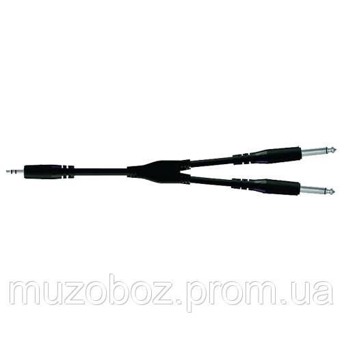 Кабель Proel Jack 3.5 M стерео - 2xJack 6.3 M моно (505 LU3) Bulk 3м