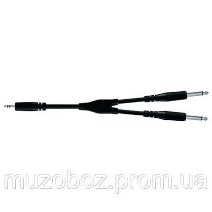 Кабель Proel Jack 3.5 M стерео - 2xJack 6.3 M моно (505 LU3) Bulk 3м, фото 2