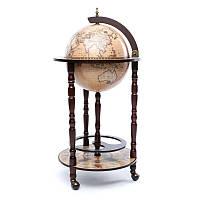 Глобус бар напольный BST 480014 44×44×88 см коричневый Зодиак