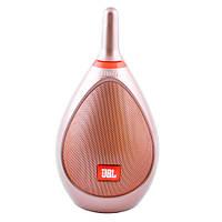 Стильная Bluetooth-колонка JBL Bowling, c функцией PowerBank, FM - золотистая