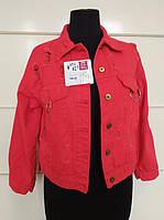 Красный женский пиджак однотонный - демисезонный