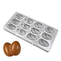 Поликарбонатная форма для шоколада Яйцо с узором