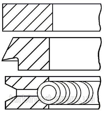Кольца поршневые VOLVO 83.0 (1.5/1.75/3) 2.5/3.0 B5252/B6304F/B6304G GOETZE 08-502100-00