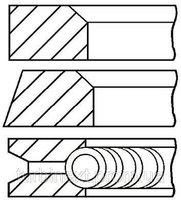 Кольца поршневые ALFA 84.0 (1.5/1.5/3.5) 1.6I/1.8I/2.0I 06416/33201/64103/67101/67102 GOETZE 08-110200-00